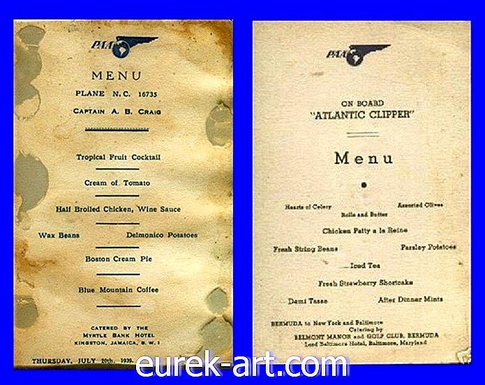 šalies gyvenimas - Šie meniu parodo, koks buvo nuostabus pirmosios klasės lėktuvų maistas
