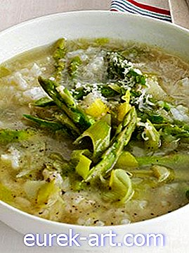 Spargel-Reis-Suppe