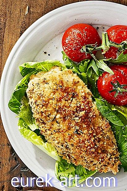 Rostad parmesan kyckling och tomater