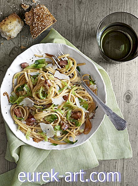 Pancetta-and-Brussels Sprouts Linguini