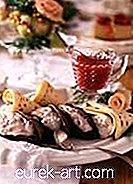 Crêpes à la crème de banane avec sauce à la framboise